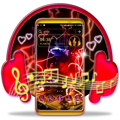 Neon DJ Launcher Theme Android APK Download Free By Studio Five Inc