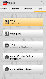 Webster's College DictionaryTR- screenshot thumbnail