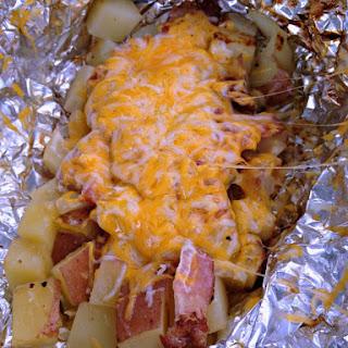 3 Cheese & Bacon Campfire Potatoes.