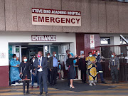 David Makhura tours Steve Biko Academic Hospital in Pretoria, which is under pressure as Covid-19 infections surge.