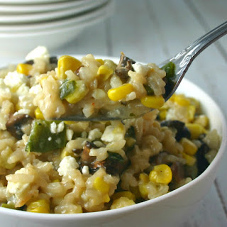 Grilled Corn and Mushroom Risotto.