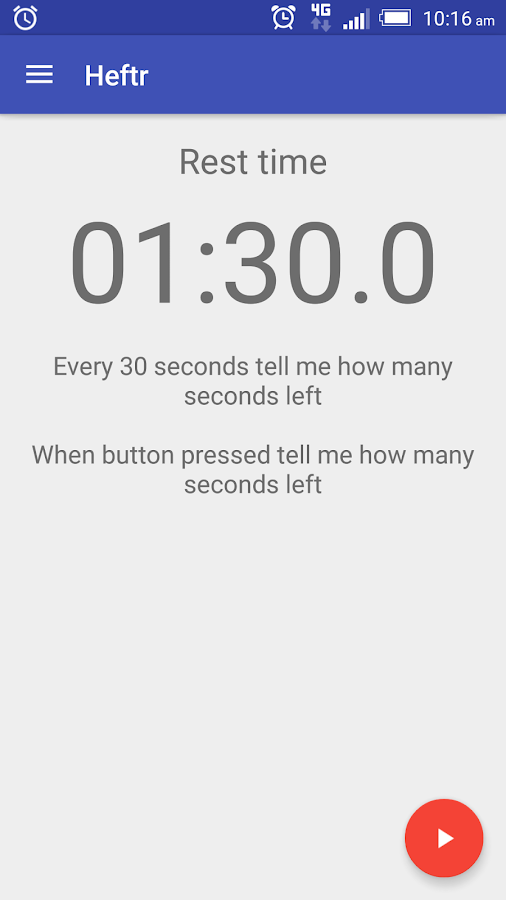 Workout Timer Handsfree: Heftr- screenshot