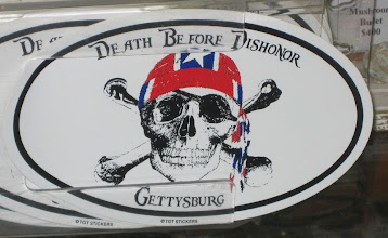 Photo: A redneck sticker - the pirate/biker/Civil War connection.