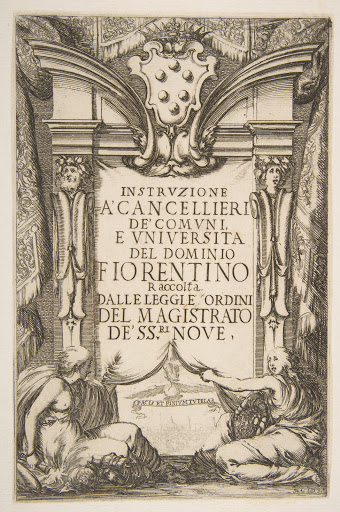 Frontispiece for the Instruzione a' Cancellieri