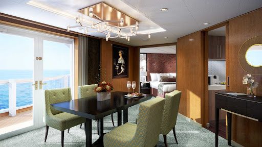 Penthouse-dining-room.jpg - The Pinnacle Suite on Holland America's Koningsdam: refined and spacious.
