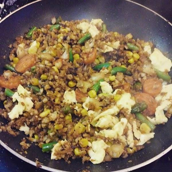 Cauliflower Rice Veggie Fry Recipe
