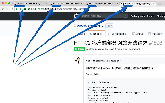 GitHub issue #ID formatter