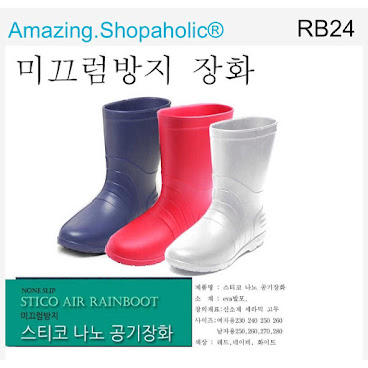 韓國直送 中筒水鞋 RB24