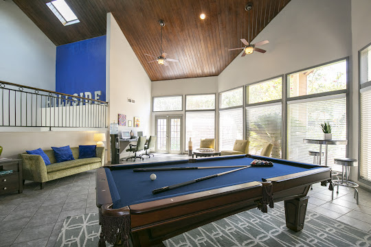 Clubhouse resident lounge with billiards table