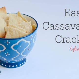 Easy Cassava Flour Crackers.