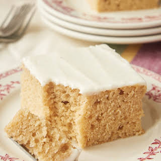 Spice Cake with Brown Butter Frosting.