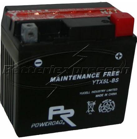 YTX5L-BS, MC batteri AGM 4Ah