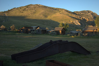 Photo: Old mining equipment and ghost town