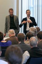 Photo: Thomas N. Friemel, Jesse Bächler - Panel 1 - 57. Jahrestagung der Deutschen Gesellschaft für Publizistik- und Kommunikationswissenschaft vom 16. bis 18. Mai 2012 in Berlin - Mediapolis: Kommunikation zwischen Boulevard und Parlament
