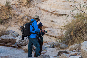 Photo: Getting some photographic advice, Tent Rocks National Monument, Cochiti Pueblo, New Mexico