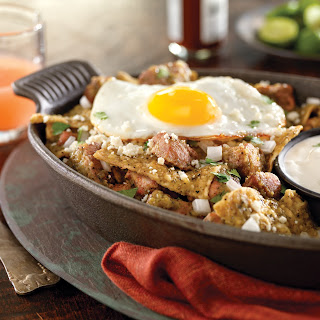 Chilaquiles in Chiles Verde.