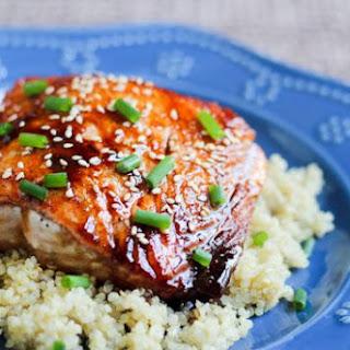 Honey-Tamari Salmon on Quinoa