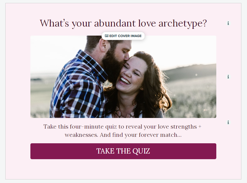 quiz cover for what's your abundant love archetype?