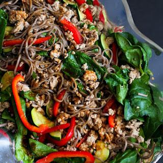 Soba Noodle, Turkey & Spinach Salad