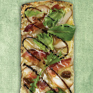 Thin Crust Brie, Pear & Bacon Flatbread Pizza