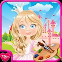 Coloring Games : Princess icon