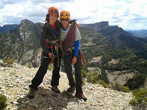 Photo: Idoia y Jesús, después de escalar la Barrufets (Masmut)