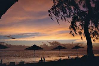 Photo: Coucher de soleil à La Réunion.