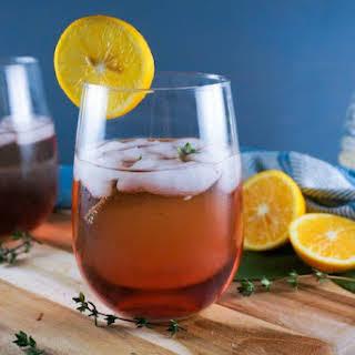 Honey Ginger Cocktail.