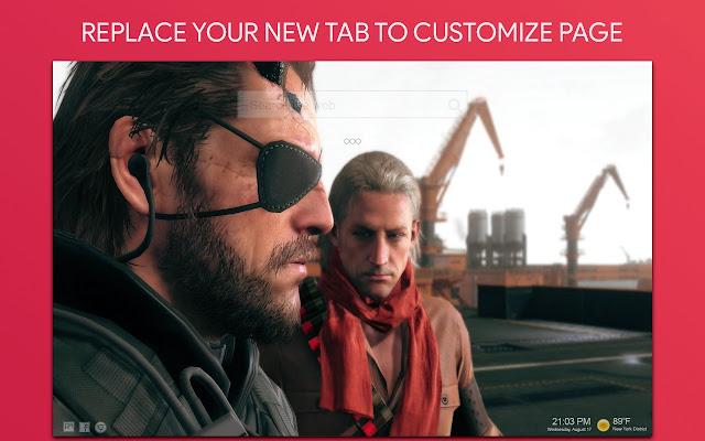 Metal Gear Solid Wallpaper HD Custom New Tab
