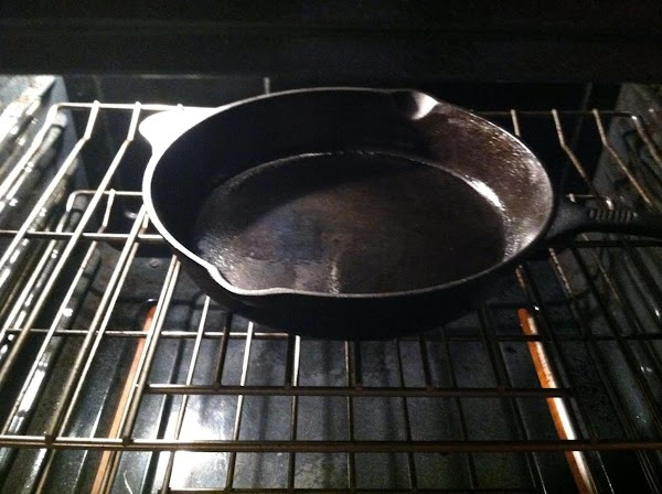 PREHEAT OVEN TO 400....USE VEG OIL  N  GREASE A LARGE CAST IRON...