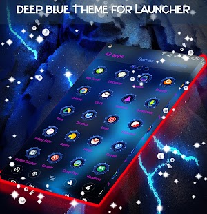 Deep Blue Theme for Launcher - náhled