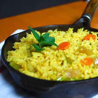 15-Minute Vegetable Fried Rice, Indian-Style.