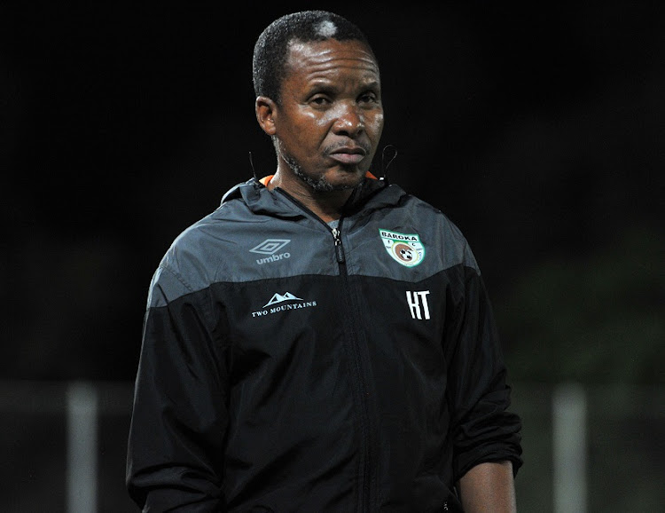 Baroka FC head coach Kgoloko Thobejane during 2017 Telkom Knockout game between Bidvest Wits and Baroka FC at Bidvest Wits at Bidvest Stadium in Gauteng Johannesburg South Africa on 04 November 2017.