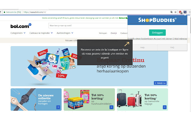Shopbuddies.at Cashback-Melder