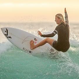Sophie Cape Woolamai by Gary Parnell - Sports & Fitness Surfing ( victoria, ocean, surfing, #garyparnellphotography, beach, australia, phillip island, #phillipisland, cape woolamai )