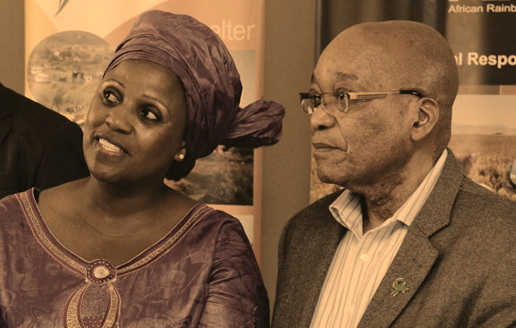 SAA boss Dudu Myeni and President Jacob Zuma. Picture: GCIS