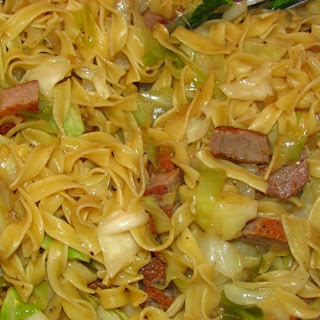 Hearty Cabbage and Pork Noodles.