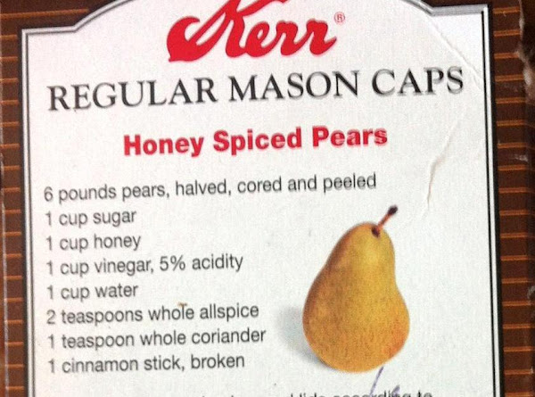 Canned Honey Spiced Pears Recipe