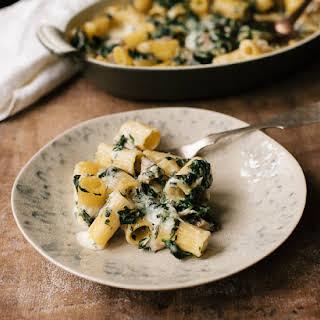Spinach, Chicken And Pasta Al Forno.