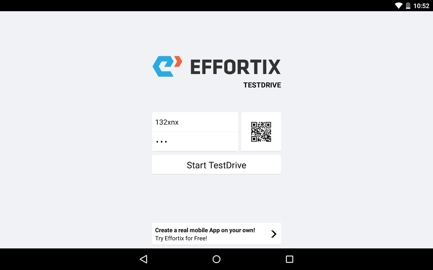 Effortix TestDrive- screenshot