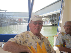Photo: Dick Price and Art Dister on Art's boat.
