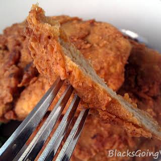 Crispy Spicy Popeye's Chicken Style Vegan Fried Chicken.