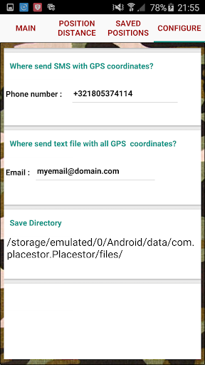 Placestor Pro- SOS SMS sender app for Android screenshot