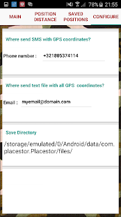Placestor Pro- SOS SMS sender Screenshot