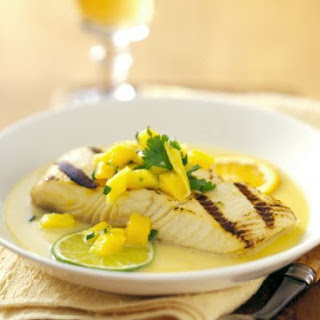 Halibut Fillets with Mango Salsa