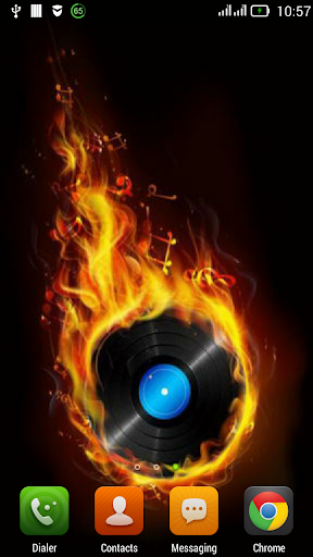 Fiery musical disc LWP