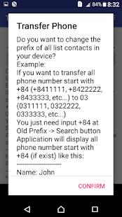 Transfer Phone Number - náhled