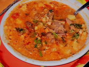Photo: Zupa gulaszowa z żołądków drobiowych i wołowiny z galuszką (trochę się rozgotowała:))