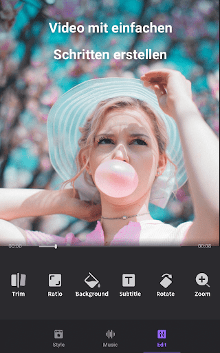 Video Maker von Fotos mit Music & Video Editor screenshot 3