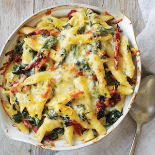 Baked Penne with Spinach and Sundried Tomato